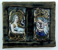 Limoges Malerei Email Hl. Johannes der Täufer Maria Magdalena Enamel Emaux 16.Jh