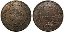 5 centimes Cérès 1896 A, torche, SUP