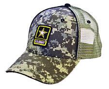 US ARMY *DIGI CAMO* MESH TRUCKER Digital Twill HAT CAP *NEW w/TAGS* AR04