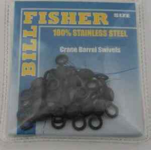Sea Striker BCBS10 Black Crane Barrel Swivel 24Ct 30Lb Stainless-Brass 11688