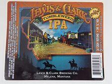 STICKER ~*~ LEWIS & CLARK Brewing Tumbleweek IPA India Pale Ale; Helena, MONTANA