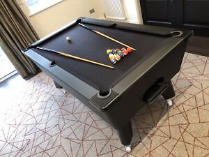 Exclusive Carbon Fibre Style Pool Table Stealth matt black edition
