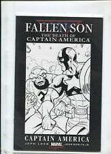 FALLEN SON THE DEATH OF CAPTAIN AMERICA (7.0) ORIGINAL SKETCH WITH REDSKULL!