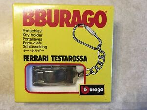 BBURAGO Ferrari Testarossa Keychain 1:87 Key-holder New In Box Made Italy 🇮🇹