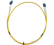 Generic LC-LC OS1 Duplex Fibre Optic Cable Yellow - 1m