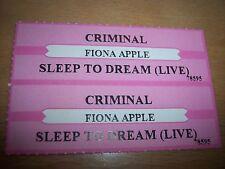 "2 Fiona Apple Criminal / Sleep To Dream Jukebox Title Strip CD 7"" 45RPM Records"
