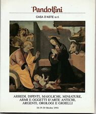 Casa d'Aste Pandolfini Ottobre 1994 arredi,  dipinti, maioliche, etc   L5485