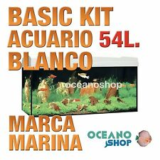 MARINA BASIC 54 Kit ACUARIO 60x30x30cm Blanco