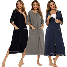 Maternity Clothes Nursing Dress Breastfeeding Pajamas  Nightgown Pregnant