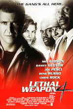 Lethal Weapon 4 Mel Gibson Danny Glover Movie Film Kino Poster 100x70cm