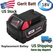 For M18 Milwaukee 18V RedLithium Battery 4.0Ah 48-11-1852 48-11-1811 Power Tools