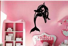 Cheap Wall Vinyl Sticker Decals Decor Kids Room Cute Dolphin #128