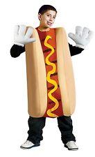 Child Hot Dog Costume Halloween Hotdog Suit Food Kids Boys Girls Childrens M L