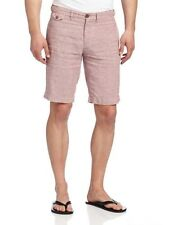 NEW- Faconnable 'Matelot' Linen Bermuda Shorts Sz. 36 Grey/Pink Lauren $185
