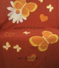 """Red Duvet Cover with Butterflies Large Sham 100% Cotton 50"""" X 74"""""""