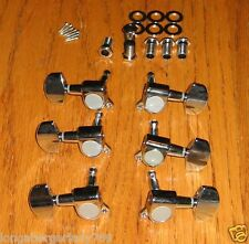 NEW 3 TO A SIDE GUITAR MACHINE HEADS TUNERS TUNING PEG ELECTRIC ACOUSTIC PARTS