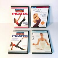 Gaiam Yoga and Caribbean Workout Pilates Workout DVD's  - Lot of 4 - EUC