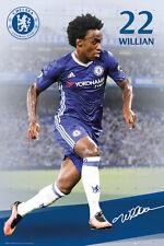 WILLIAN - CHELSEA POSTER - 24x36 FOOTBALL SOCCER FC 34168