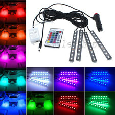 Full Color LED Car Interior Under Dash Foot Well Floor Seats Lighting Kit