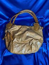 Vieta Autumn Gold Embossed Hobo Style Purse Large Handbag Tote Shoulder Bag