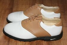 NIKE AIR BELLA SIZE UK6.5 EUR40.5 US9 WHITE TAN LEATHER GOLF EXCELLENT CONDITION