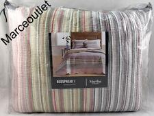Martha Stewart Collection Yarn Dyed QUEEN Bedspread Multi