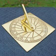 New 12cm Solid Brass Rising Sun Sundial with Roman Numerals Garden Ornament