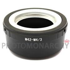 Anello adattatore OBIETTIVO ottiche M42 42x1 a vite su MICRO 4/3 4:3 OLYMPUS M 4