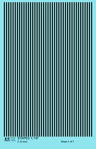 K4 HO Decals Black 1/16 Inch Stripes Set