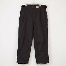 Men's Pants Ski Snowboarding Size L Large Black Waterproof Breathable SWAG