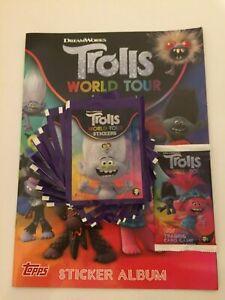 TROLLS WORLD TOUR STICKER ALBUM & STICKERS
