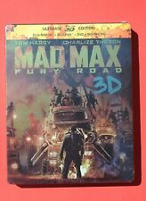 New+Sealed+Mint MAD MAX steelbook FURY ROAD French bluray 3D+2D+DVD+DIGITAL
