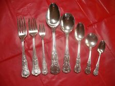 (8) Pc International Silverplate Navy USN - Anchor Flatware Setting, Kings   #12