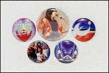 Journey Lot Of 5 80's Original Buttons Pin Badges Evolution Frontiers