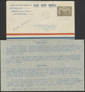 1930 AAMC #3055b Bradore Bay to Montreal First Return Flight, Flight Memo