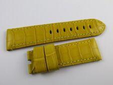 New Panerai 24mm Yellow Alligator Strap OEM