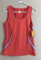 LUCY Women's Size S Tech Training Orange Mesh Breathable Scoop Neck Tank Top