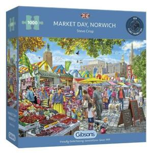 Market Day, Norwich. Lovely 1,000 piece Gibsons jigsaw puzzle. New/sealed