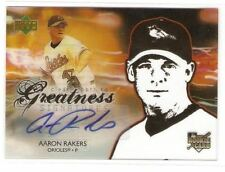 2006 UPPER DECK ROOKIE CLEAR PATH TO GREATNESS SIGNAUTRES AUTOGRAPH AARON RAKERS