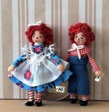 """Dollhouse Miniature Porcelain Dollhouse Doll Ethel Hicks """"Raggedy Andy"""""""