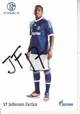 FOOTBALL carte joueur JEFFERSON FARFAN équipe SCHALKE 04 signée