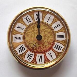 100mm Gold Bezel Retro Roman Dial QUARTZ INSERT/FIT-UP CLOCK Movement