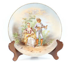 Limoges Porcelain Cabinet Plate Decorated by Lazcyras, Rosenfeld, Lehman c.1920