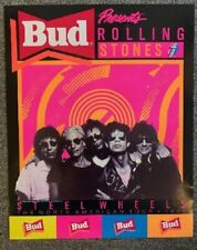 Rolling Stones Concert Poster Steel Wheels Tour 1989