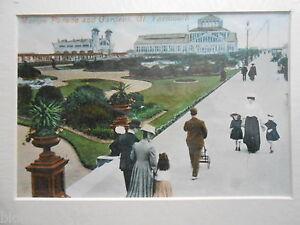 Great Yarmouth Mounted Edwardian Photograph - Marine Parade & Gardens c1910, Rep