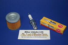 Kawasaki Bayou 220 Tune Up NGK Spark Plug K/&N Oil Filter Air Filter KLF220 00//02