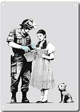 Banksy Policeman And Dorothy Metal Wall Sign 200mm x 140mm  (2f)
