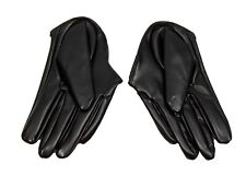 Half Palm Gloves Racing Fashion Accessory - Black