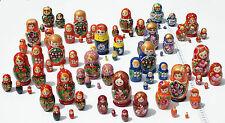 Lote de 3 muñecas rusas matrioska de madera matryoshka hechas en Rusia, sets 5pc