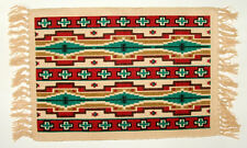 """Set of 2 Placemats Geometric Southwestern Native American 13x19"""" Canvas #156"""